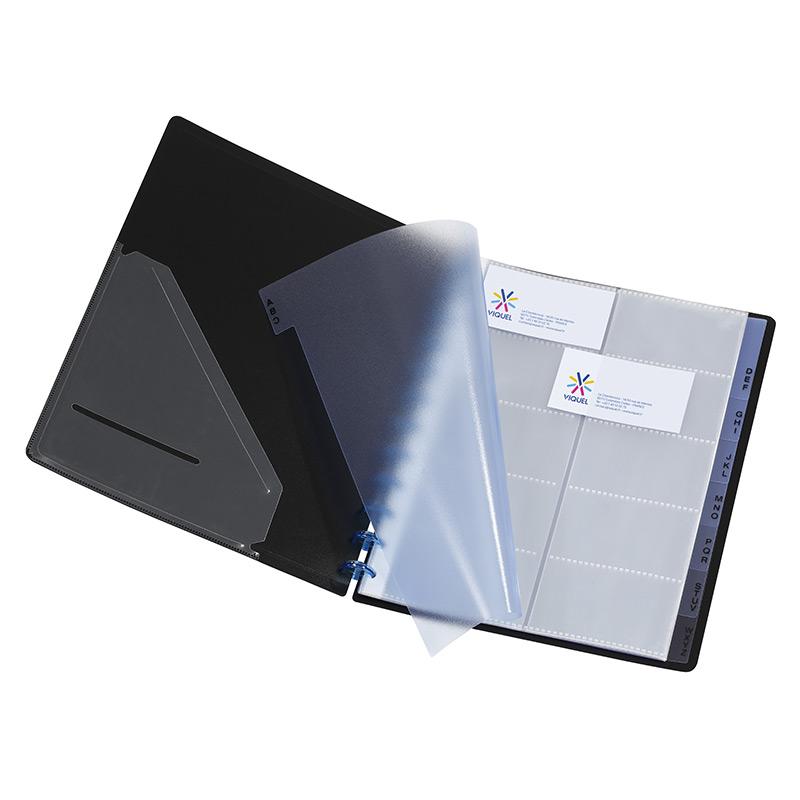 Viquel Porte Cartes De Visite A Pochettes Repositionnables A4 Standard